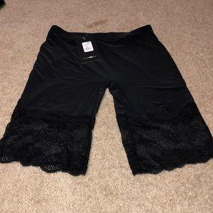 Hem Biker Shorts